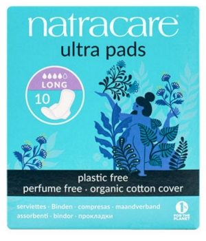 Natracare 10 Serviettes ultra longues à ailettes