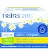 Hygiene naturelle Natracare 10 Tampons normaux sans applicateur