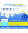 Hygiene naturelle Natracare 10 Tampons super sans applicateur en coton bio