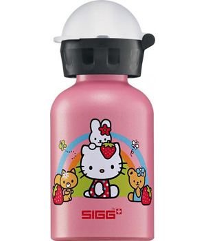 Sigg Gourde Sigg Hello Kitty Rainbow Arc en ciel Rose métallique 0.3 litre