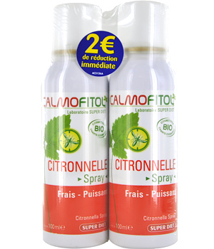 Calmofitol Spray citronnelle Calmofitol lot de 2X100ml   2 euros de réduction