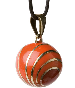 Babylonia Bijou de grossesse Bola Spirale orange/rouge