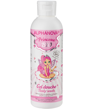 Alphanova Alpha Princesse gel douche Fraise Coton Aloe Vera 200ml