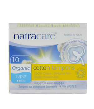 Natracare 10 Tampons normaux sans applicateur