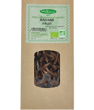 Nat et Form Tisane Badiane fruit 75g