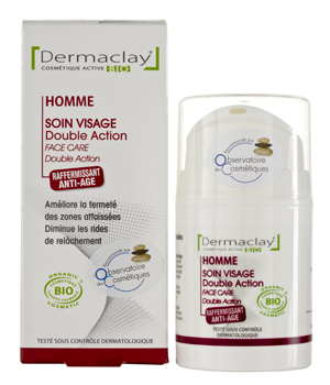 Dermaclay  Soin double action raffermissant anti âge Derma Homme 50ml