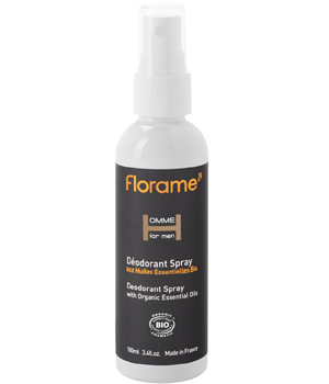 Florame Déodorant spray Homme aux HE de Palmarosa et Tea Tree 100ml