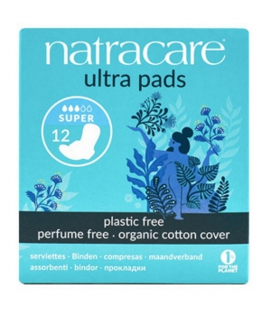Natracare 12 Serviettes super ultra à ailettes