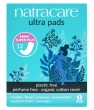 Hygiene naturelle Natracare 12 Serviettes ultra super plus sans ailettes