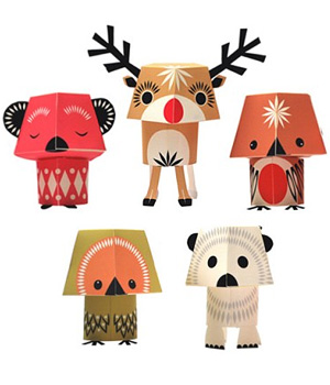 Coq En Pâte Paper Toys Christmas Creatures 100 % Papier recyclé Collection Mibo