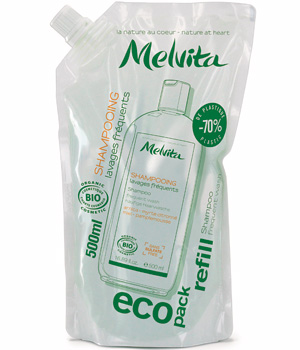 Melvita Eco recharge Shampoing lavages fréquents Arnica, Miel... 500ml