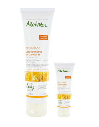 Melvita Duo Apicosma Extra rich hand creams large & small 150ml +30ml