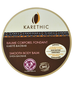 Karethic Baume corporel fondant au Karité Anti vergetures 100ml