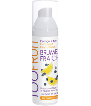 Toofruit Brume fraîche visage enfants 7 12 ans Orange Myrtille 100ml