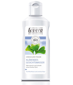 Lavera Lotion tonique clarifiante FACES Ginkgo et Raisin 125ml