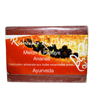 Richesses Du Monde Savon ayurvédique naturel Melon Papaye Ananas 125g