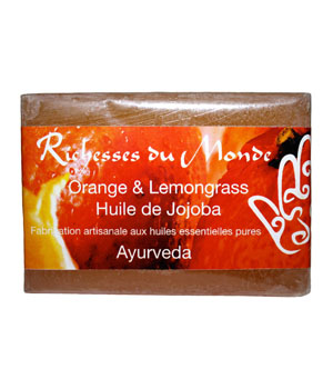 Richesses Du Monde Savon ayurvédique naturel Orange et Lemongrass 125g