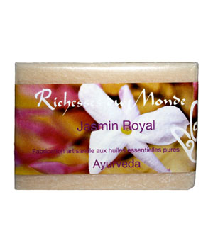 Richesses Du Monde Savon ayurvédique naturel Jasmin Royal 125g