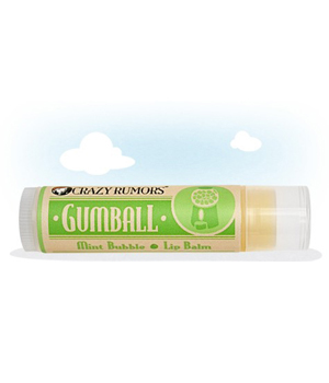 Crazy Rumors Baume à lèvres naturel vegan Gumball: Bubble Gum Menthe 4.2g