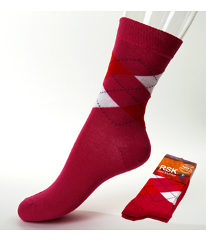 Rsk Socks 2 paires de chaussettes Intarsia femme dominante Rose 37 41