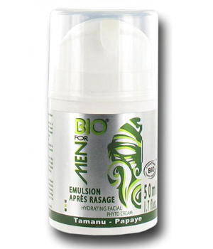 Bio For Men Emulsion après rasage visage au Tamanu 50ml