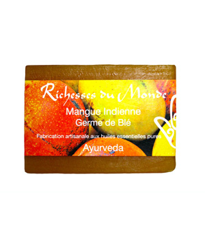 Richesses Du Monde Savon ayurvédique naturel Mangue indienne 125g