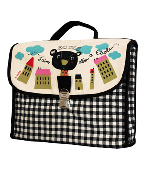 Coq En Pâte Cartable Ecole 100% coton biologique Collection Virgo