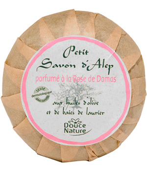 Douce Nature Savonnette d'Alep Rose de Damas 100g