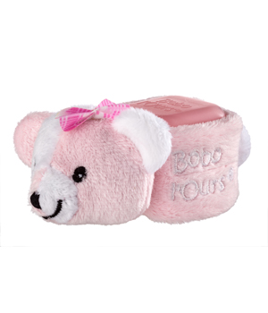 Alphanova Bobo l'ours cube froid anti bosse Rose