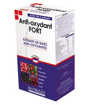 Nutrigee Anti oxidant fort naturel 30 comprimés