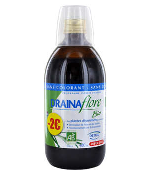 SuperDiet Drainaflore Bio Cure dépurative Boisson 480ml