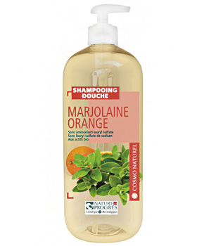 Cosmo Naturel Shampoing douche Marjolaine Orange 1L