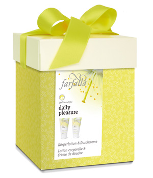 Farfalla Coffret cadeau Daily Pleasure: lotion corps + gel douche 2x150ml
