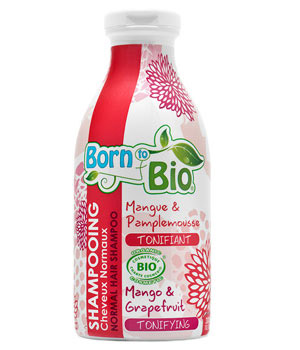 Born To Bio Shampoing cheveux normaux Mangue et Pamplemousse Tonifiant 300ml