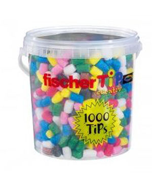Fisher Tips Baril de 1000 tips Multicolore construction en maïs dès 3 ans