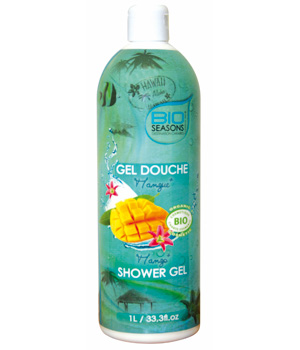 Bio Seasons Gel douche Destination Caraïbes Mangue format familial 1 litre