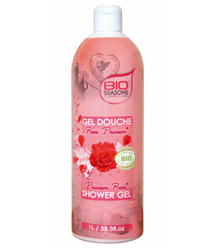 Bio Seasons Gel douche Escapade à Venise Rose Passion format familial 1 litre