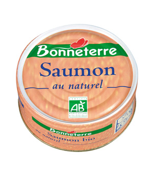 Bonneterre Saumon au naturel bio 112g