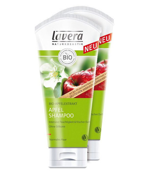 Lavera Lot 2 shampoing Hair Lait Pomme 250ml