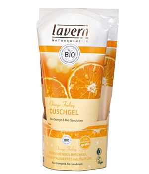 Lavera Gel douche Orange Feeling Body SPA 150ml + sachet lait corps OFFERT 25ml