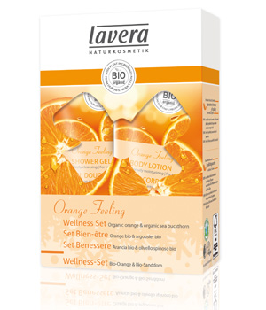 Lavera Coffret cadeau Gel douche + Lait corps Orange Feeling Body SPA 2x150ml