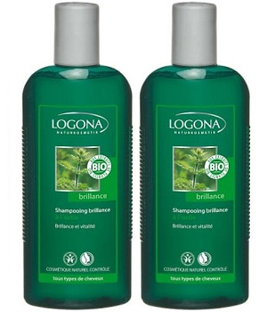 Logona Lot de 2 X Shampoing brillance à l'ortie 250ml