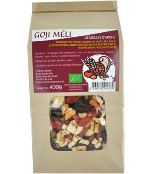Le Moulin D Arche Goji Méli fruits rouges et fruits secs 400g