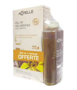 Acorelle Lot Roll on de cire Ylang Essentiel Epil 100ml + recharge OFFERTE