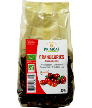 Primeal Canneberges (Cranberries) 180g
