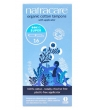 Hygiene naturelle Natracare 16 Tampons super avec applicateur en coton bio