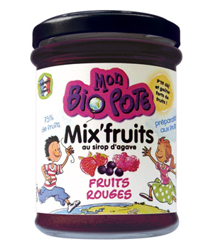 Mon Bio Pote Mix'fruits Fruits Rouges au sirop d'Agave 212g