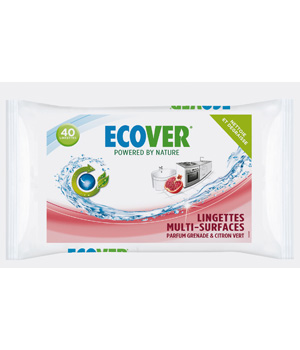 Ecover 40 Lingettes Multi usages 100% biodégradables
