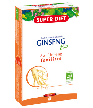 SuperDiet Ginseng Action Tonic Fatigue 20 ampoules de 15ml soit 300ml