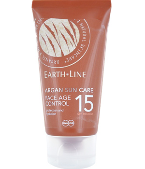 Earth Line Crème solaire anti âge argan SPF15 protection moyenne 50ml